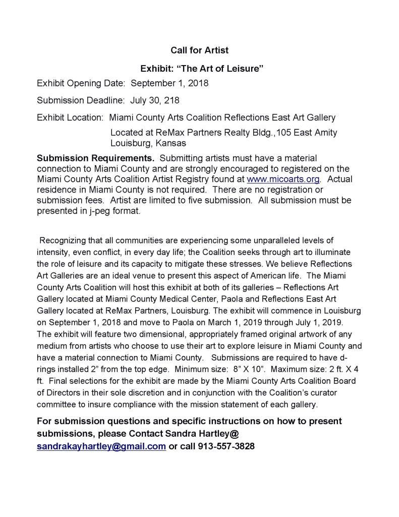 Call for Artists - Leisure