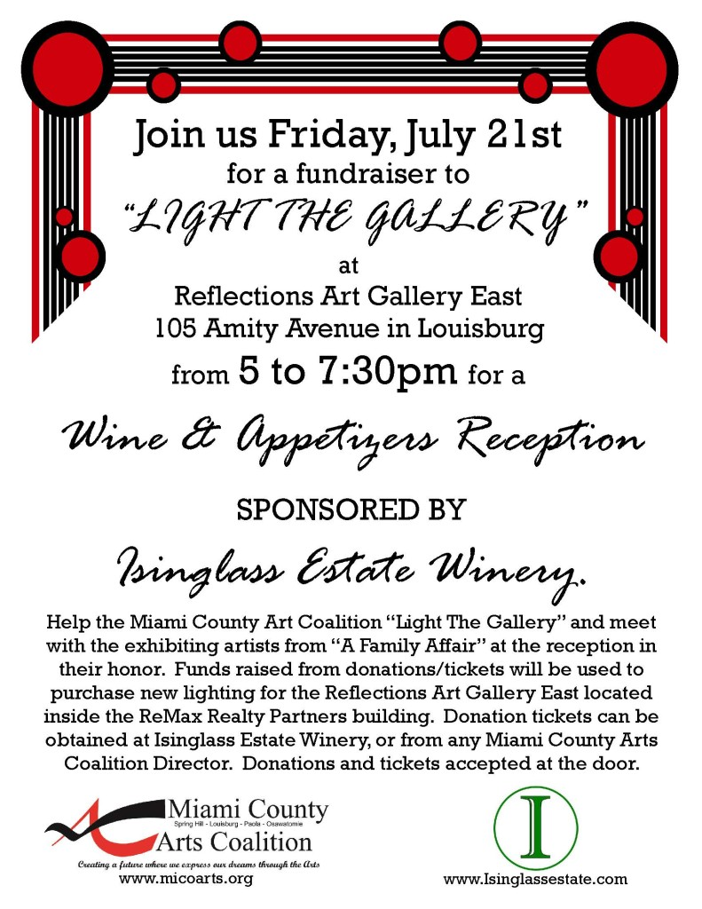 Light the Gallery and Artist Reception Flyer